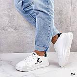 ТІЛЬКИ 25 см! Жіночі кросівки білі Tik Tok еко-шкіра весна / літо/ осінь, фото 9