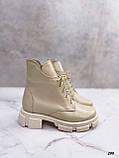 Женские ботинки ДЕМИ бежевые натуральная кожа весна/ осень, фото 3