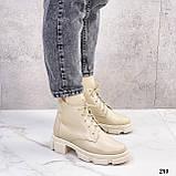 Женские ботинки ДЕМИ бежевые натуральная кожа весна/ осень, фото 4