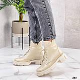 Женские ботинки ДЕМИ бежевые натуральная кожа весна/ осень, фото 7