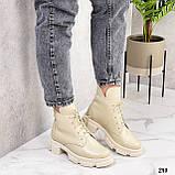 Женские ботинки ДЕМИ бежевые натуральная кожа весна/ осень, фото 10