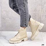Женские ботинки ДЕМИ бежевые натуральная кожа весна/ осень, фото 9