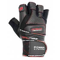 Перчатки для тяжелой атлетики Power System Ultimate Motivation PS-2810 XL Black/Red, фото 1