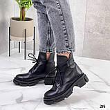 Женские ботинки ДЕМИ черные на шнурках натуральная кожа, фото 4