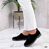 ТОЛЬКО 38, 41 р!!! Женские туфли черные на шнуровке натуральная замша, фото 3