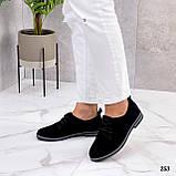 ТОЛЬКО 38, 41 р!!! Женские туфли черные на шнуровке натуральная замша, фото 5