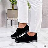 ТОЛЬКО 38, 41 р!!! Женские туфли черные на шнуровке натуральная замша, фото 6