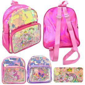 """Рюкзак с блестками """"Unicorn"""" 26*22*9см"""