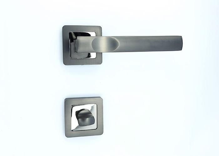 Комплект 1 Ручка на квадратной розетке TRION ALDO 74 AL-AL BNB-D/NP
