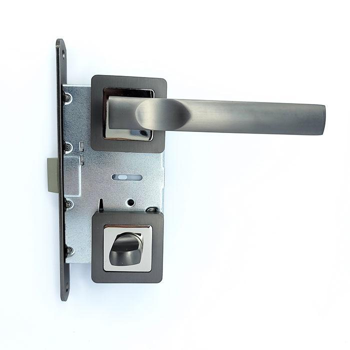 Комплект 3 Ручка на квадратной розетке TRION ALDO 74 AL-AL BNB-D/NP