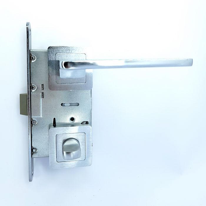 Комплект 3 Ручка на квадратной розетке TRION ELECTRA 74 AL-AL BC-P total