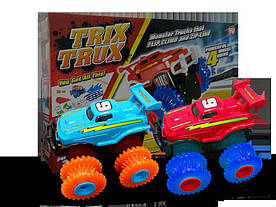 Игровой набор 2 машины Trix Trux LP100 канатный детский монстр-трак Красный/Голубой (hubber-260)