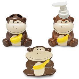 "Набор для ванной ""Monkey"" 3пр/наб 22*20*7.5см, фото 2"