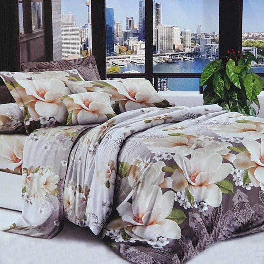 Полуторное постельное белье Бязь 3D Premium