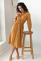 Сукня з вафельної гумкою по талії Barley - св-коричн колір, M (є розміри) S, фото 1