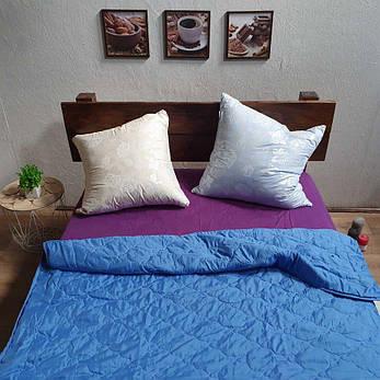 Одеяло лето ткань Микрофибра наполнитель Силикон 100грм/м2 - 195х210 (синий), фото 2