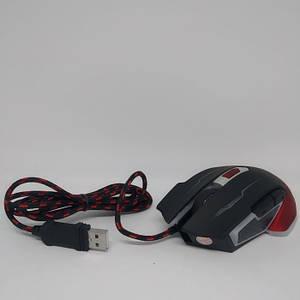 Ігрова дротова миша USB JEDEL GM740 з підсвічуванням 3200dpi мишка Чорна з червоним