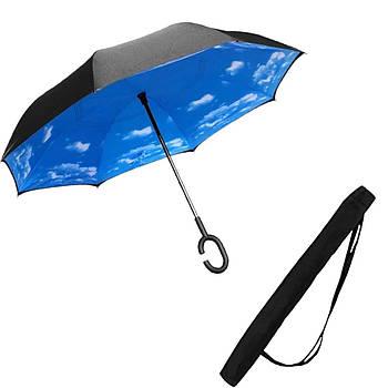 Зонт обратного сложения Up-brella Dream Sky + чехол Black (vol-73)