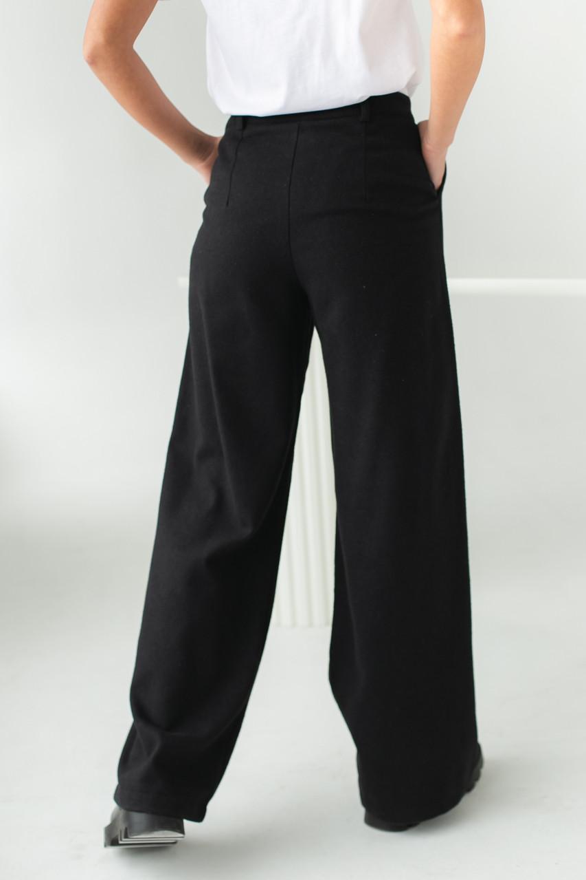 Широкие брюки с высокой посадкой Clew - черный цвет, S (есть размеры)