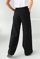 Широкие брюки с высокой посадкой Clew - черный цвет, S (есть размеры), фото 1