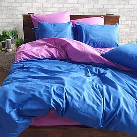 Полуторное однотонное постельное белье Бязь Premium