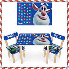 Детский деревянный столик и 2 стульчика Домовой 501-103 (UA)
