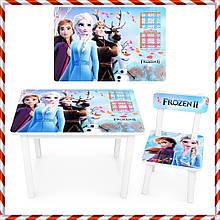 """Детский деревянный столик и стульчик """"Frozen Холодное сердце"""" BSM2K-41 для детей от 1 года"""
