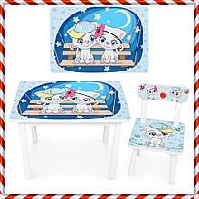 """Детский деревянный столик и стульчик """"Котята"""" BSM2K-25 для детей от 1 года"""