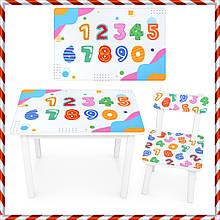 """Детский деревянный столик и стульчик """"Цифры"""" BSM2K-84 для детей от 1 года"""