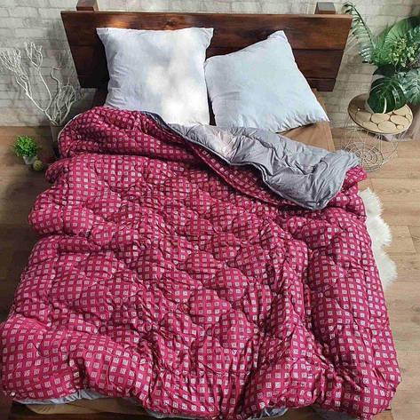 Одеяло компаньон 4 сезона наполнитель Силикон - 175х210 (малиновое), фото 2