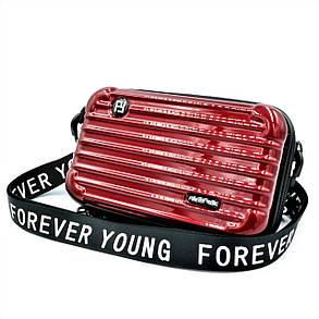 Сумка на плече Forever Young Темно-червона (new-bag-0007 ), фото 2
