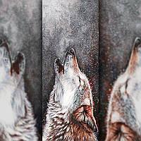 Алмазная вышивка мозаика The Wortex Diamonds Волчий Вой 100х40см TWD21005XL полная зашивка квадратные стразы., фото 1