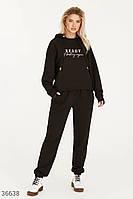 Черный спортивный костюм с вышивкой S-M,L-XL,2XL-3XL, фото 1