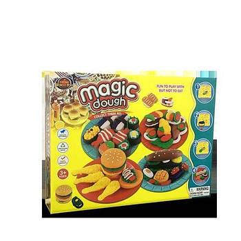 Игровой набор Magic Dough Fast Food Разноцветный (hubber-258)