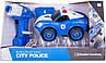 Игрушка-конструктор полицейская машина с электродвигателем DIY SPATIAL CREATIVITY, 22 детали, фото 2