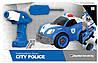 Игрушка-конструктор полицейская машина с электродвигателем DIY SPATIAL CREATIVITY, 22 детали, фото 4