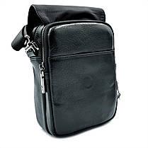 Мужская кожаная сумка H.T.Leather Черный (2000-9), фото 2