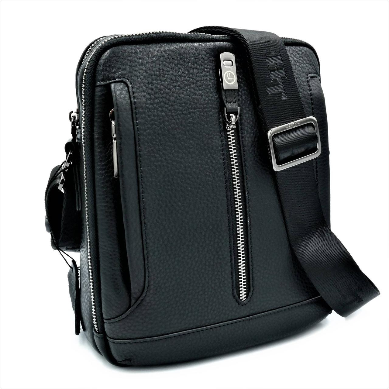 Чоловіча шкіряна сумка H. T. Leather Чорний (5435-4)