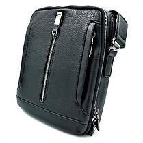 Чоловіча шкіряна сумка H. T. Leather Чорний (5435-4), фото 2