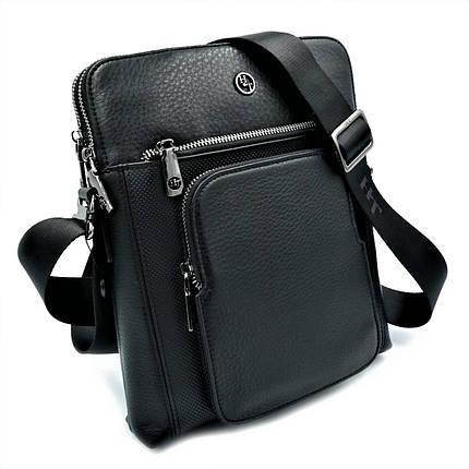 Мужская кожаная сумка H.T.Leather Черный (5499-3), фото 2