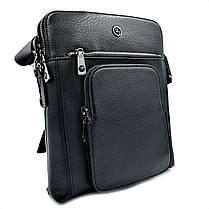 Чоловіча шкіряна сумка H. T. Leather Чорний (5499-3), фото 2