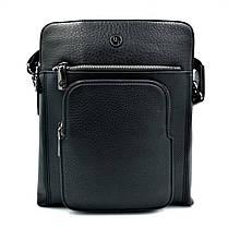 Мужская кожаная сумка H.T.Leather Черный (5499-3), фото 3