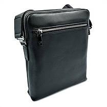 Чоловіча шкіряна сумка H. T. Leather Чорний (5499-3), фото 3