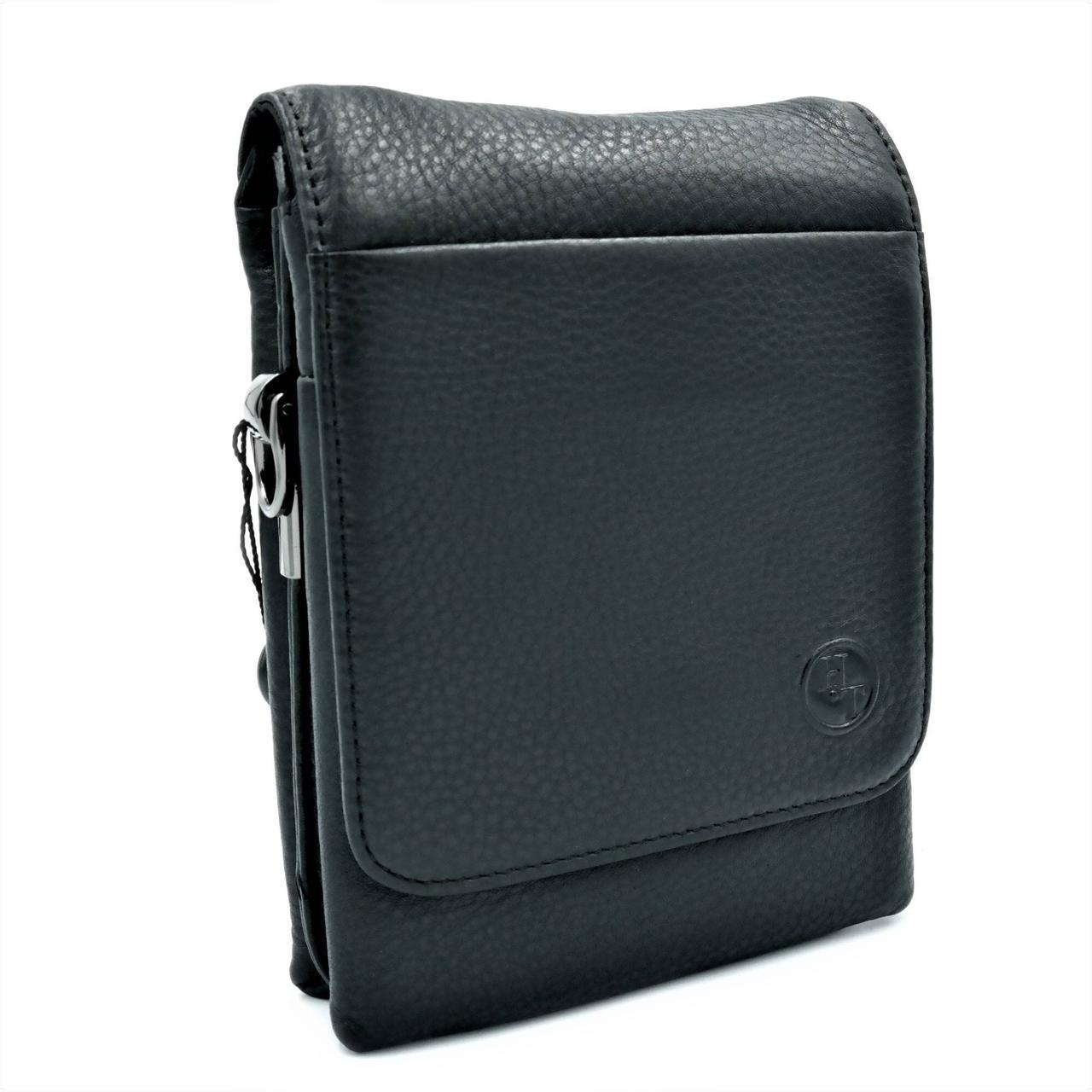 Чоловіча шкіряна сумка H. T. Leather Чорний (5479-12)