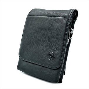 Чоловіча шкіряна сумка H. T. Leather Чорний (5479-12), фото 2