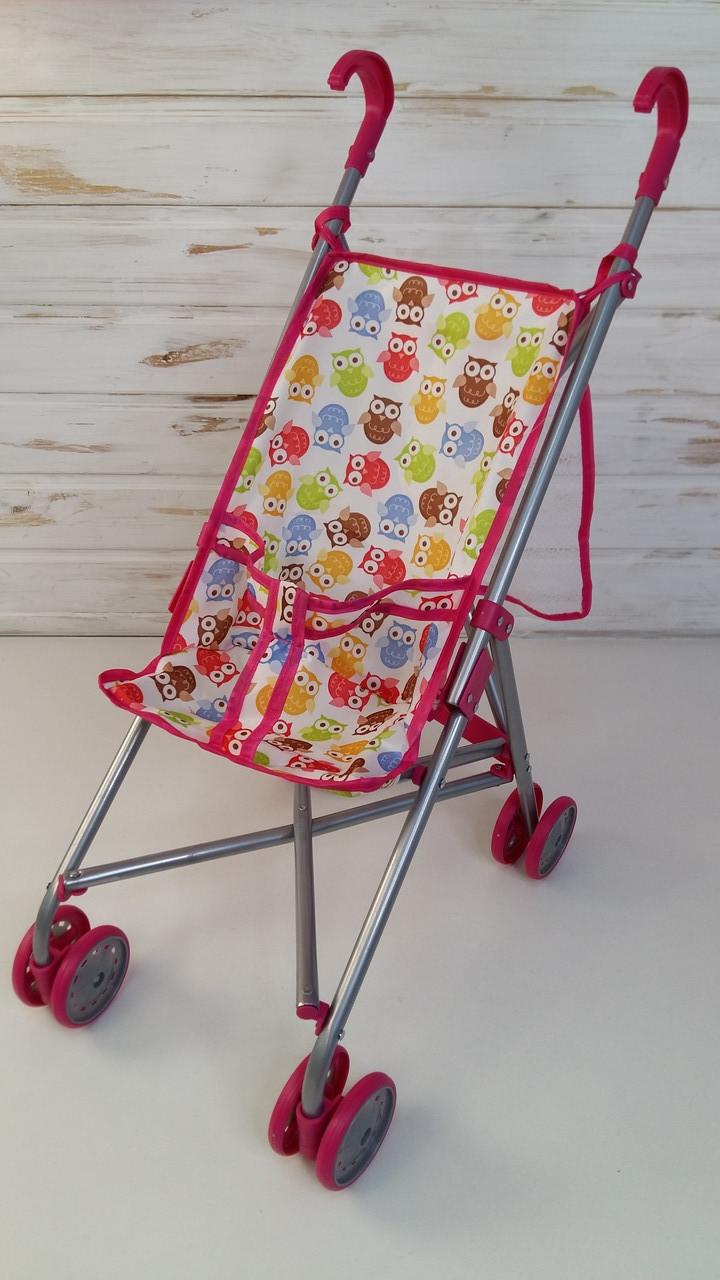 Детская игровая коляска для кукол прогулочная 9302 W-B