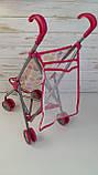 Детская игровая коляска для кукол прогулочная 9302 W-B, фото 2