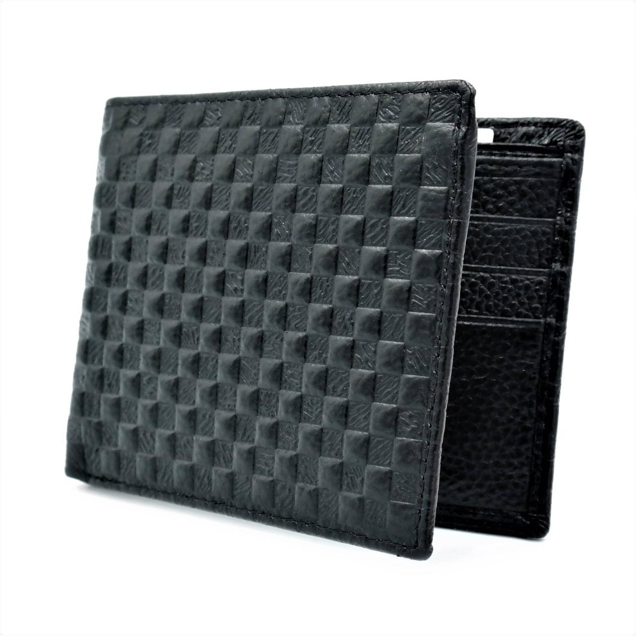 Чоловічий шкіряний гаманець Чорний (nw-k-8916-15-1)