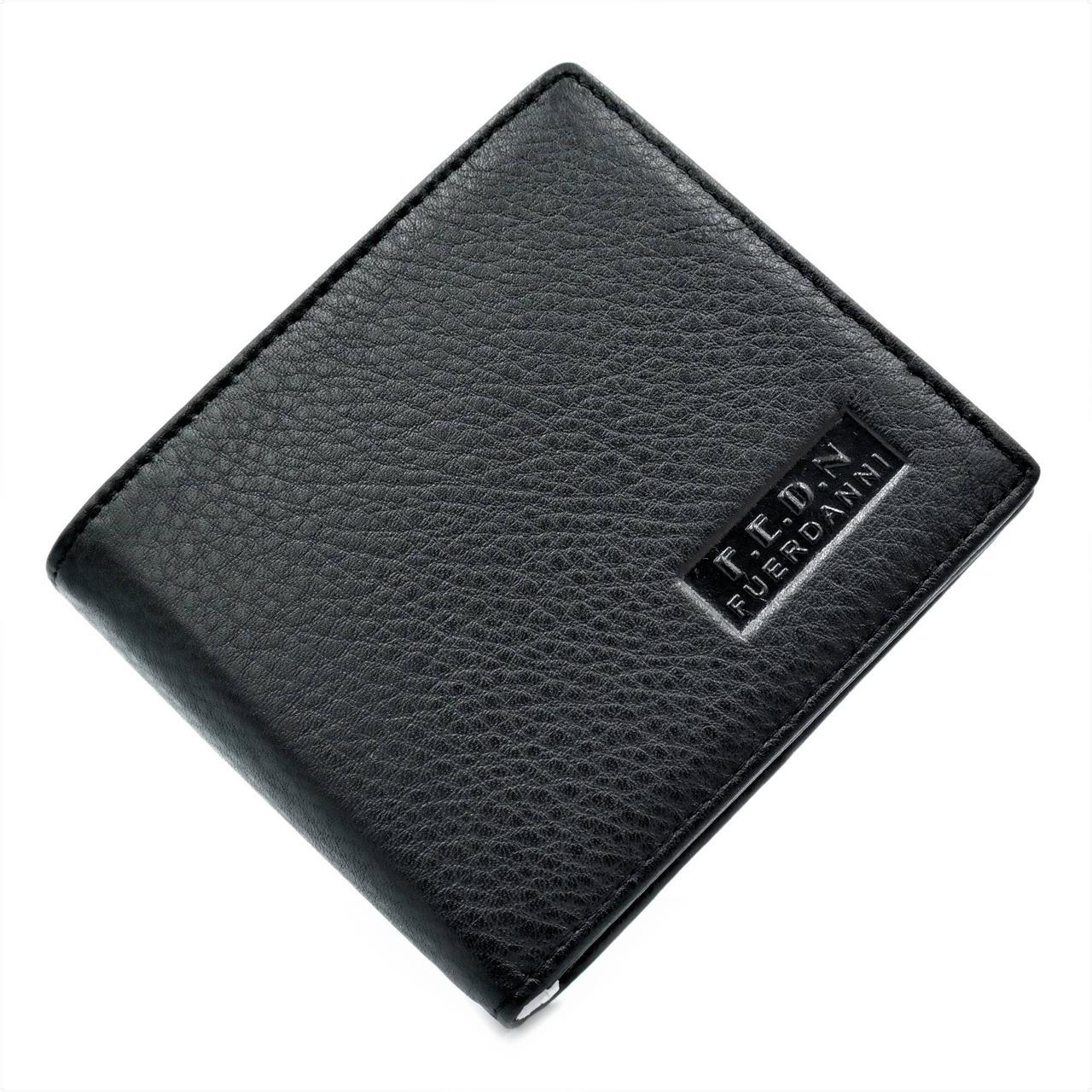 Чоловічий шкіряний гаманець Чорний (nw-k-800-2)