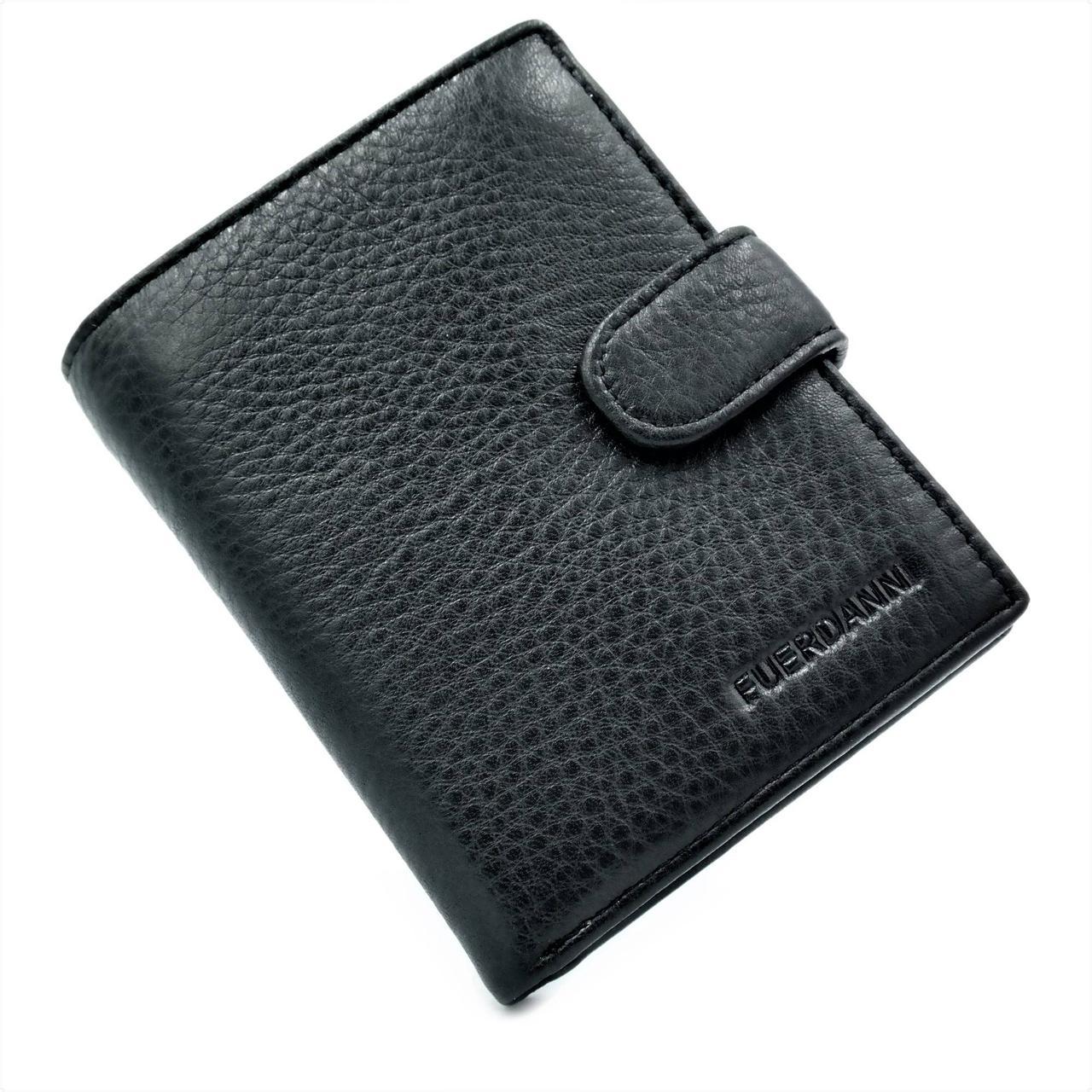 Чоловічий шкіряний гаманець Чорний (nw-k-A1002)